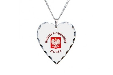 World's Greatest Busia Crest Family Necklace Heart Charm by CafePress