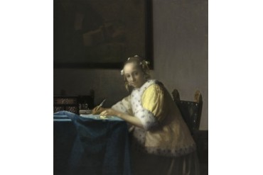 A Lady Writing Poster Print (18 x 24)