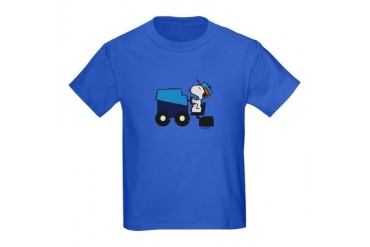 Snoopy Smooths the Ice Kids Dark T-Shirt
