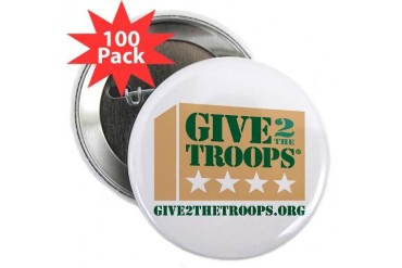 Give2theTroopsreg; Button 2.25 100 pack 2.25 Button 100 pack by CafePress