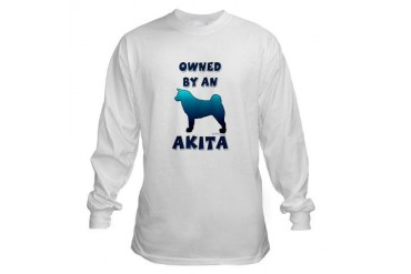 Akita Silhouette Pets Long Sleeve T-Shirt by CafePress