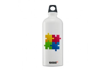 Colorful Puzzle Cool Sigg Water Bottle 0.6L by CafePress
