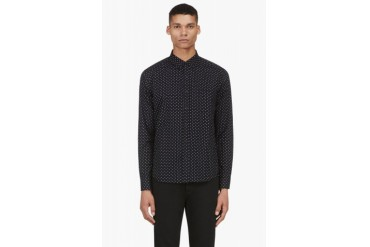 Rag And Bone Navy Patterned Davies Shirt