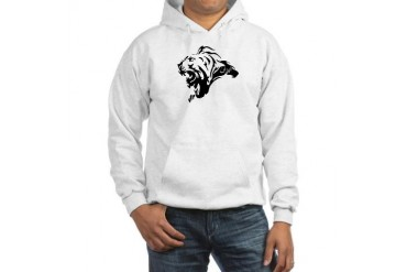 Lion with Iran in persian etched in mane Hooded Cats Hooded Sweatshirt by CafePress