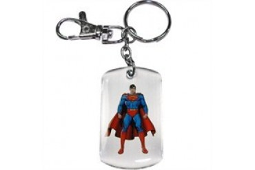 DC Comics Superman Front and Back View Metal Keychain