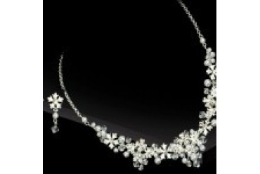 AA Bridal Necklace & Earring Set NE907