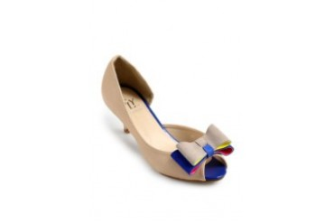 FLY Donika Peep Toe Mid-Low Shoes
