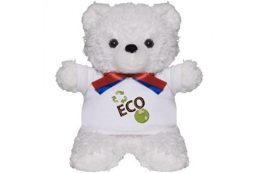 Eco Green Lovers Recycle Design Save Planet Teddy Love Teddy Bear by CafePress