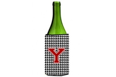Monogram - Houndstooth Initial Y Wine Bottle Beverage Insulator Beverage