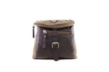 Criss Cross Leatherette Front Pocket Backpack
