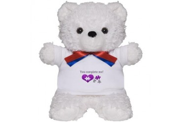 Missing piece to my heart Heart Teddy Bear by CafePress