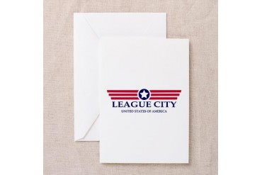 League City Pride Texas Greeting Card by CafePress