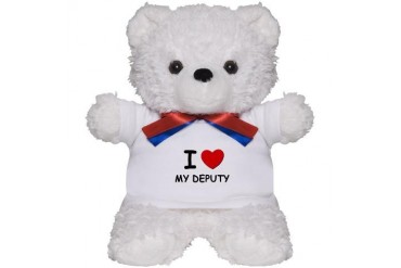 I love deputies Love Teddy Bear by CafePress