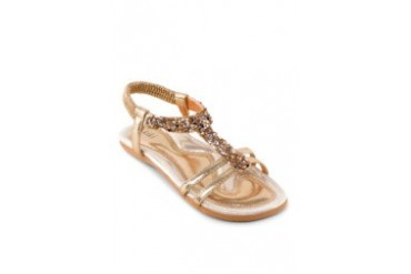 Glitter Sandals with Elastic Back Strap