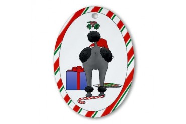 Nothin' Butt Poodles Pets Oval Ornament by CafePress