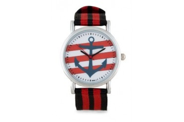 Something Borrowed Anchor Round Face Watch