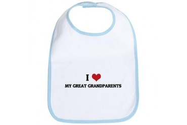I Love My Husband Family Bib by CafePress
