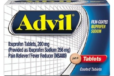 Advil Film Coated Tablets Pain Reliever Fever Reducer 40 Count Bottle