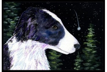Starry Night Border Collie Indoor or Outdoor Mat 24x36 Doormat