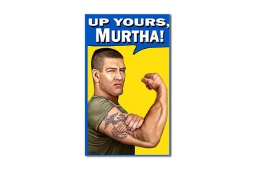Up Yours Murtha Rectangle Sticker
