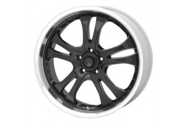 American Racing Wheels AR393 Casino, 16x7 with 5 on 100 Bolt Pattern - Gloss Black with Machined Lip AR3936780 Wheels