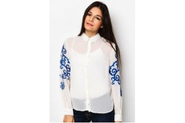 CLOSET Embroidered Top