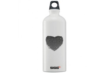 Silver Heart Romance Sigg Water Bottle 1.0L by CafePress