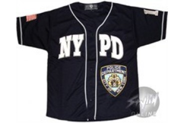 NYPD Embroidered Baseball Jersey