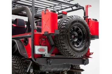 Body Armor 4x4 TJ and YJ Wrangler Formed Rear Bumper in Black Powder Coat TJ-2994 Tire Carriers