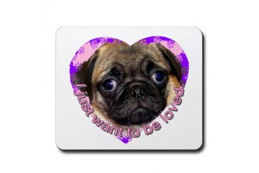 Pug Pets Mousepad by CafePress