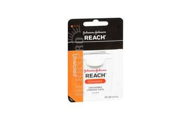 Johnson Reach Unwaxed Dental Floss 55 Yards Unflavored each