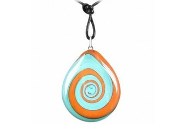 Swirling Drop Murano Glass Necklace