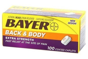Bayer Back amp Body Extra Strength Coated Caplets 100 Count