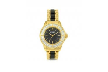 Tokyo Crystal 38 Gold and Black Women's Watch