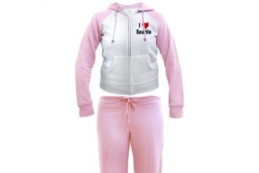 I Love Seattle Love Women's Tracksuit by CafePress