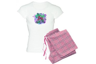 Pink Flowers Whimsical Women's Light Pajamas by CafePress