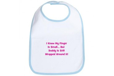 Daddy Wrapped Around Finger Funny Bib by CafePress