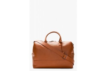 Want Les Essentiels De La Vie Cognac Leather Douglas Duffle Bag