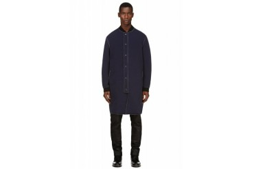 3.1 Phillip Lim Navy Neoprene Coat