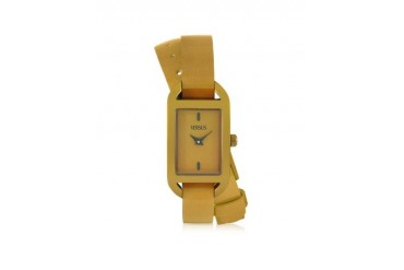Ibiza Aluminum and Leather Wrap Women's Watch