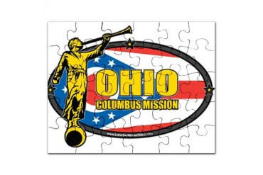 Ohio Columbus LDS Mission Clothing T-Shirts and Gi Gifts Puzzle by CafePress
