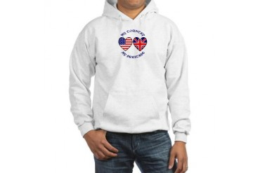 UK /USA Country Heritage Union jack Hooded Sweatshirt by CafePress