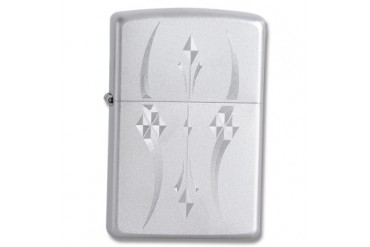 "Zippo ""Pristine Curves"" Lighter with Satin Chrome Finish"