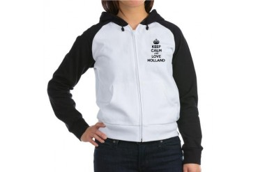 Keep calm and love Holland Funny Women's Raglan Hoodie by CafePress