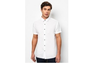 River Island Short Sleeve Poplin Shirt