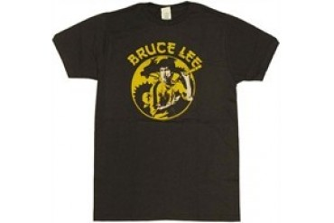 Bruce Lee Circle Dragon Silhouette T-Shirt Sheer