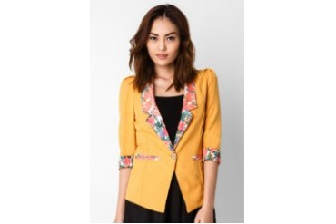 Now & Forever Yellow Blazer