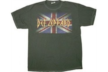 Def Leppard Flag Blackwash Music T-Shirt
