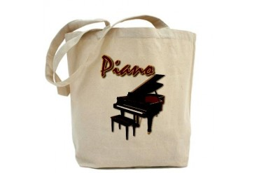 Piano Bench Music Tote Bag by CafePress
