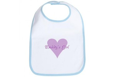 Daddy's Girl Baby Baby girl Bib by CafePress